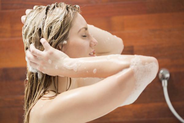 mandi dengan hair extension