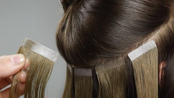 pemasangan hair extension