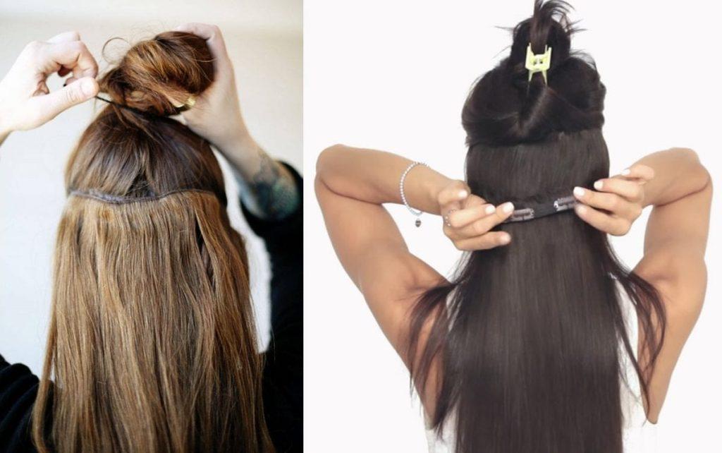 mengunakan hair clip