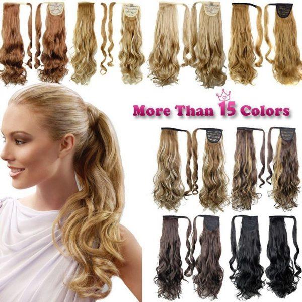 jenis rambut hair clip extension