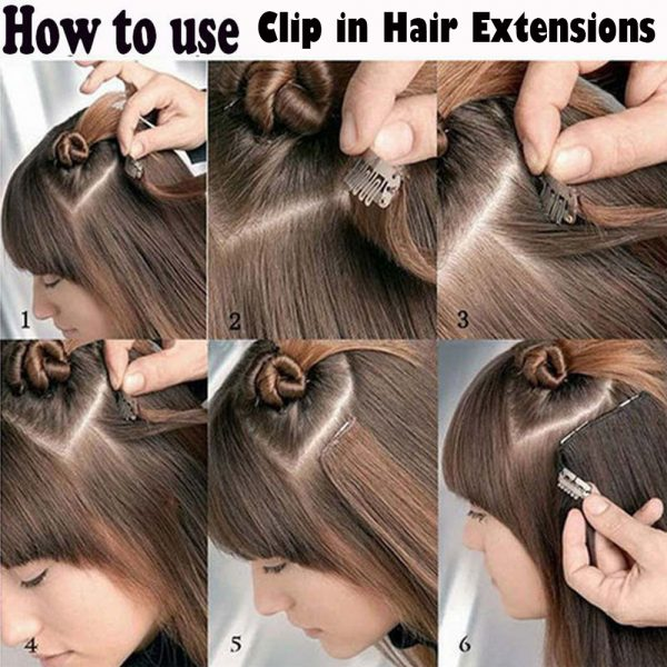 hair clip extension