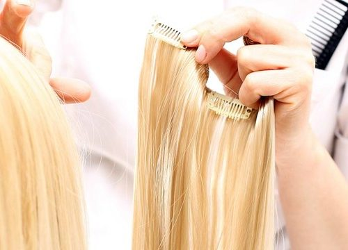 memasang hair extension