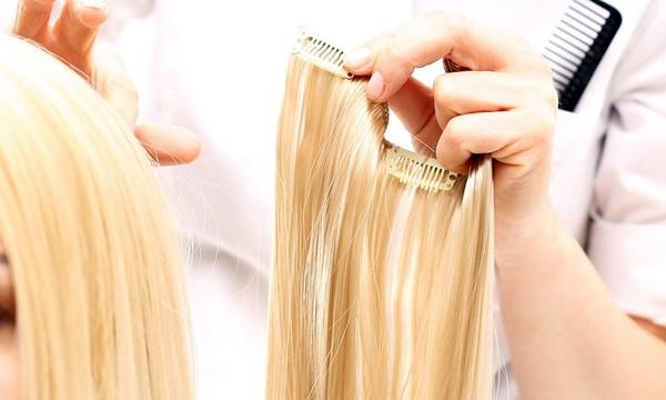 memasang hair extension