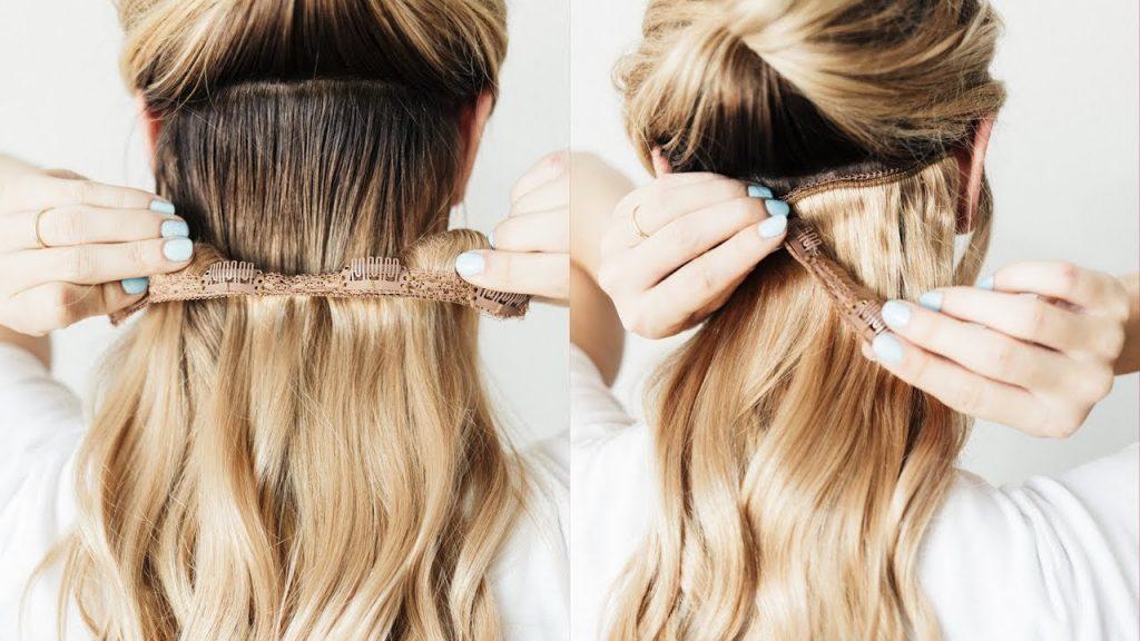 memasang hair clip