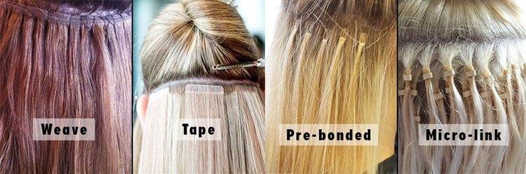 jenis hair extension